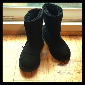 Black Faux Suede Boots size 12 toddler